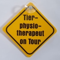 "Autoschild ""Tierphysiotherapeut on Tour"""