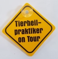 "Autoschild ""Tierpheilpraktiker on Tour"""